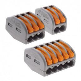 Assortiment de 50 mini bornes de connexion rapide à levier S222