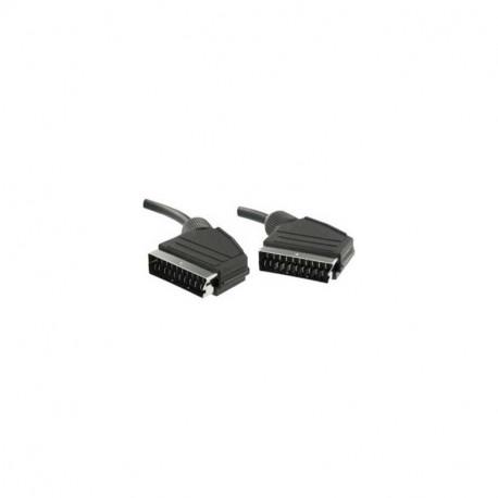 Rallonge peritel 21 contacts blindages séparés Male/Male 5m Erard 726507