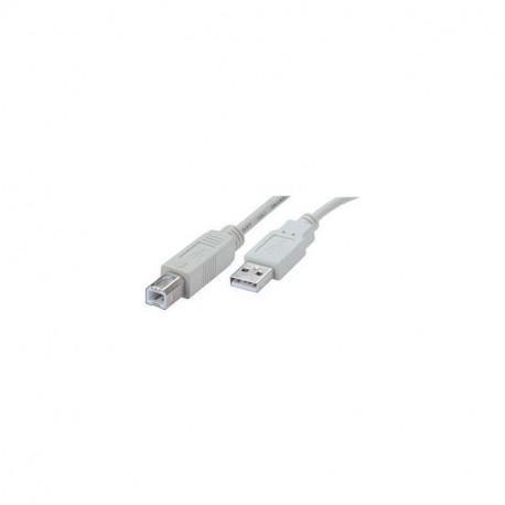 Cordon pour imprimante Connectique USB A mâle - USB B mâle Longueur 3m Erard