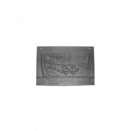 Plaque arrière de foyer Deville P0018663