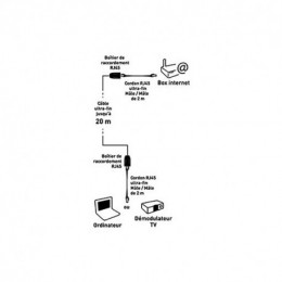 Deport Ethernet Filaire 2374 Itc